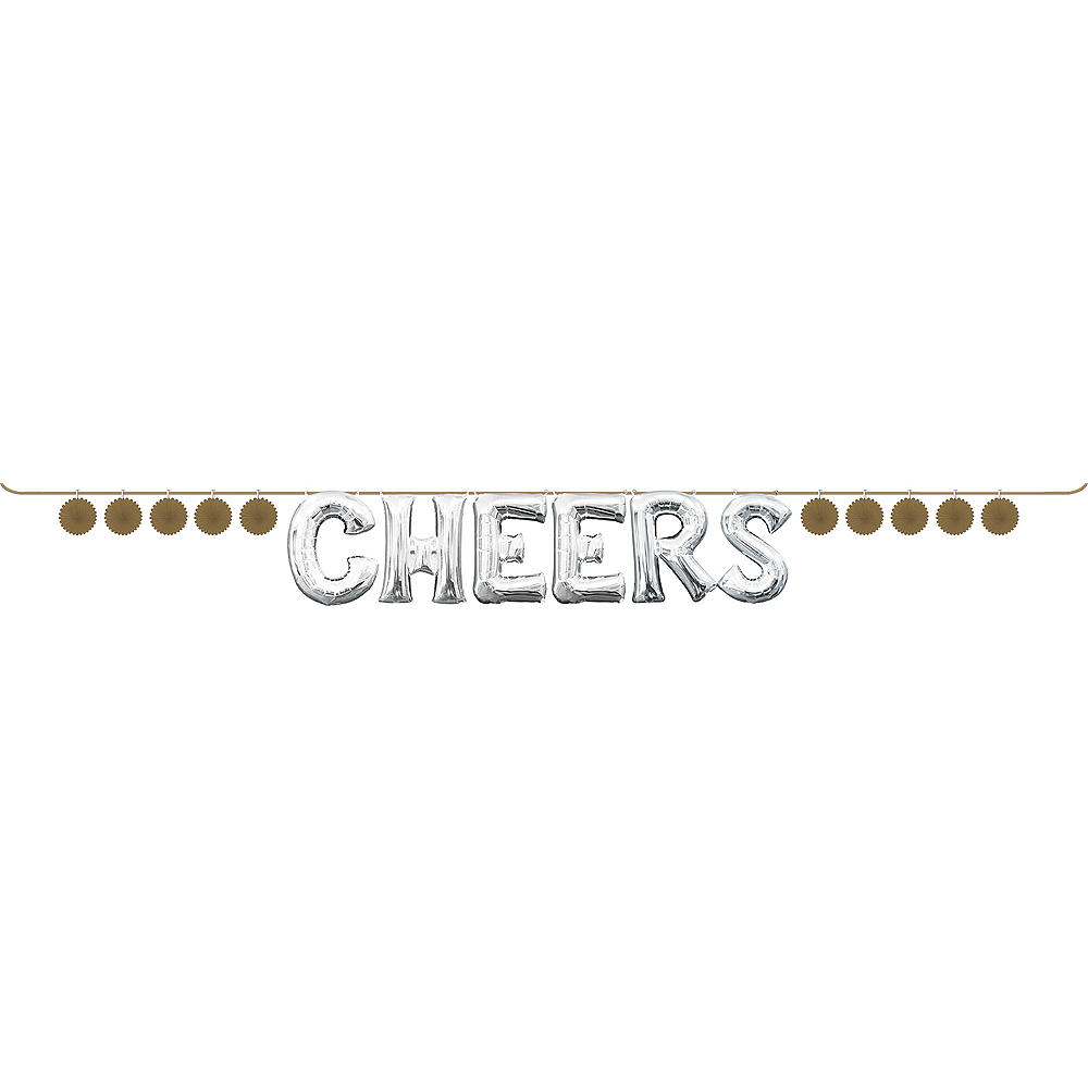 Mini Create Your Own Gold Paper Fan Banner, 4in Image #2