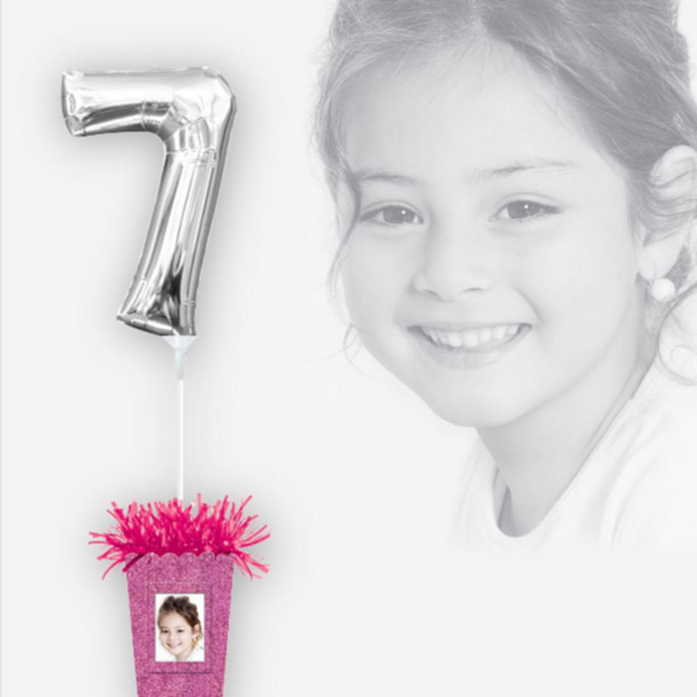Create Your Own Glitter Pink Balloon Weight Centerpiece Image #2