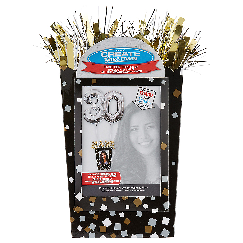 Large Create Your Own Confetti Balloon Weight Centerpiece Image #1