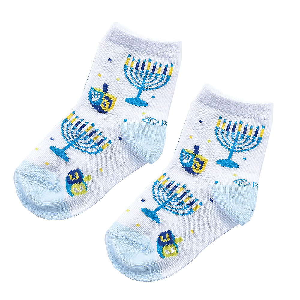 Nav Item for Baby Dreidel & Menorah Socks Image #1