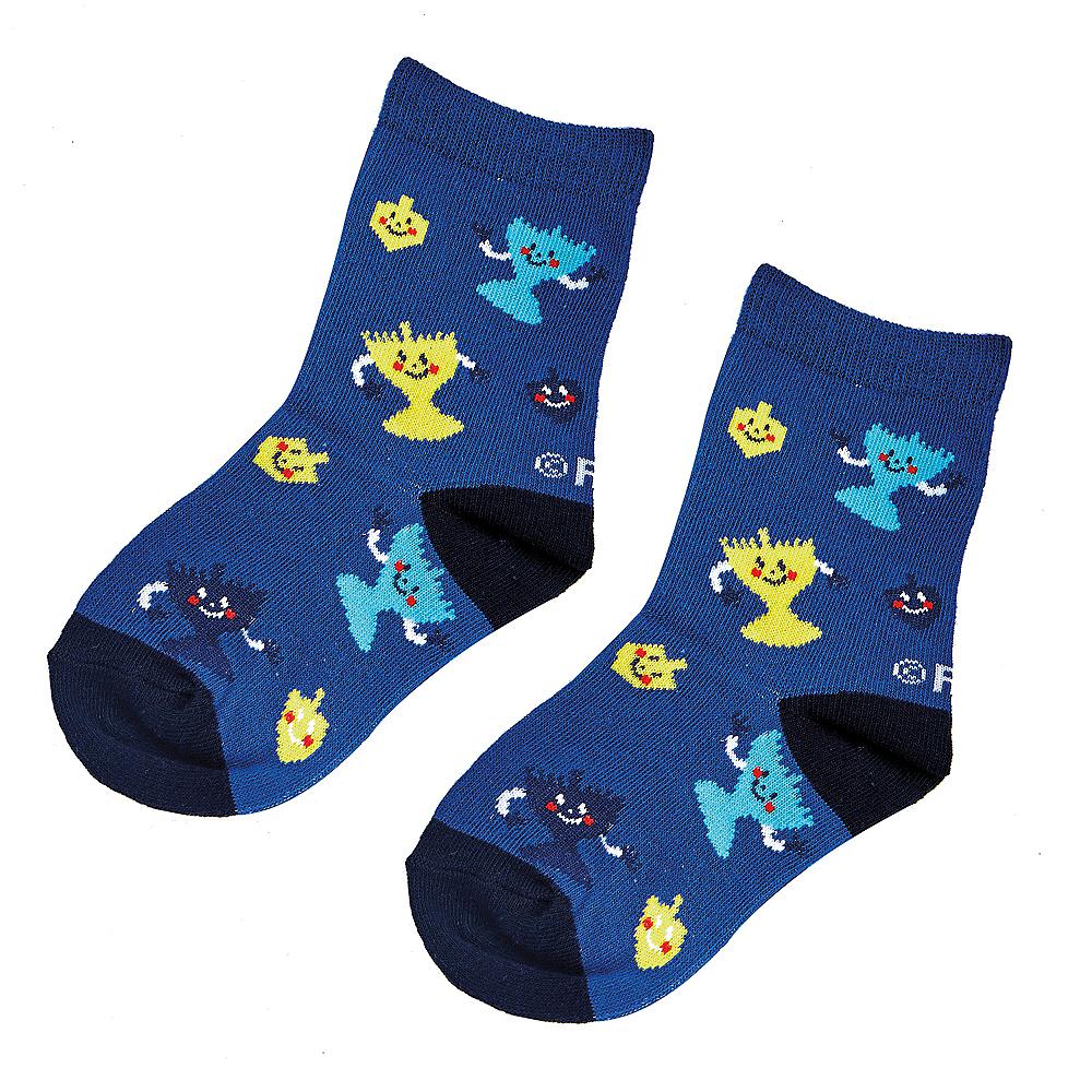 Child Happy Dreidel & Menorah Crew Socks Image #1