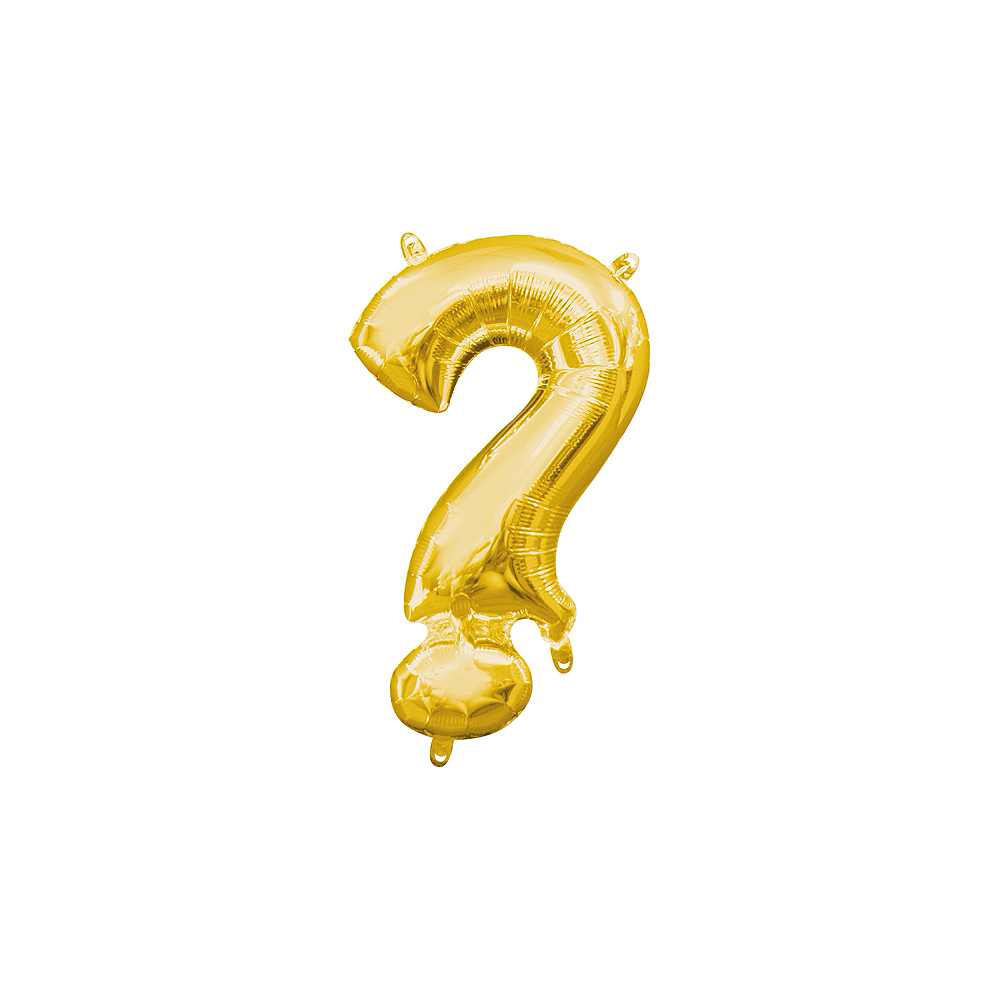 Air-Filled Gold Question Mark Balloon Image #1