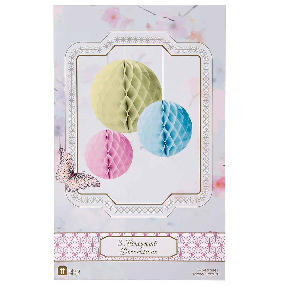 Pastel Honeycomb Balls 3ct Image #2