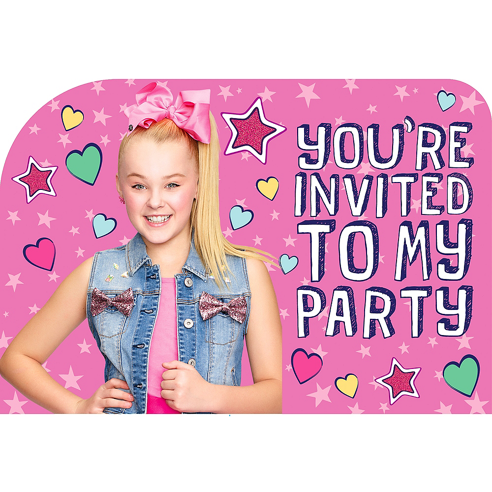 Jojo siwa invitations 8ct party city jojo siwa invitations 8ct image 1 filmwisefo