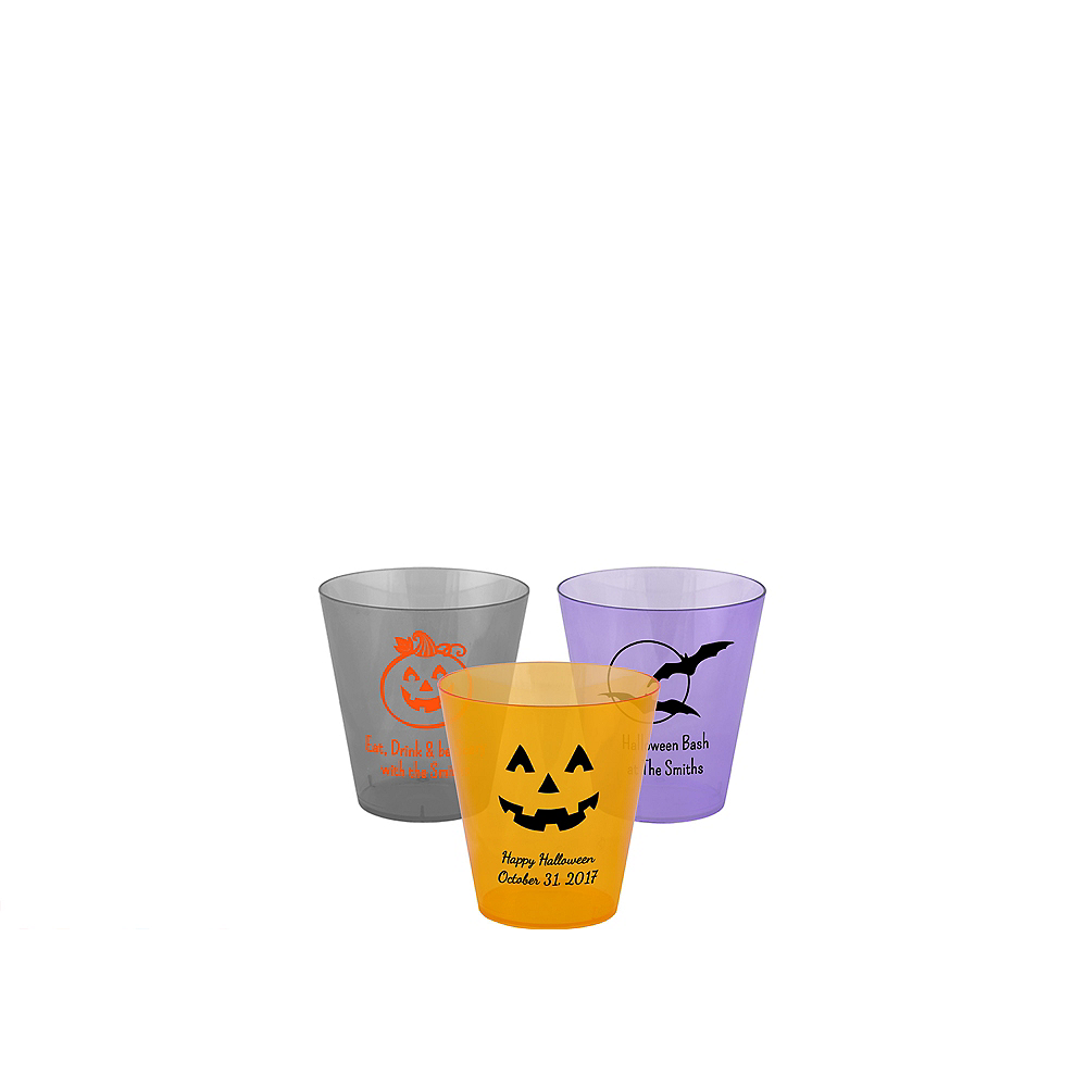 Personalized Halloween Plastic Shot Glasses 2oz Image #1