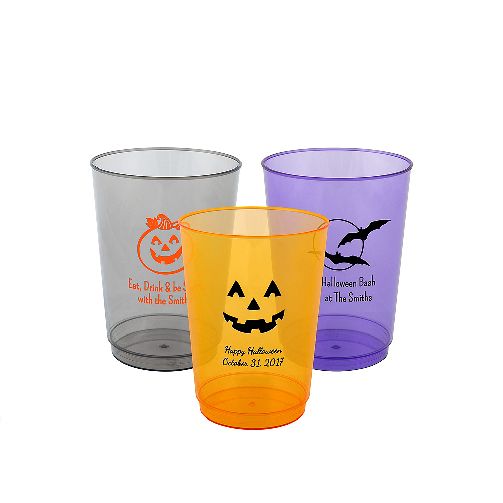 Personalized Halloween Hard Plastic Color Cups 10oz Image #1