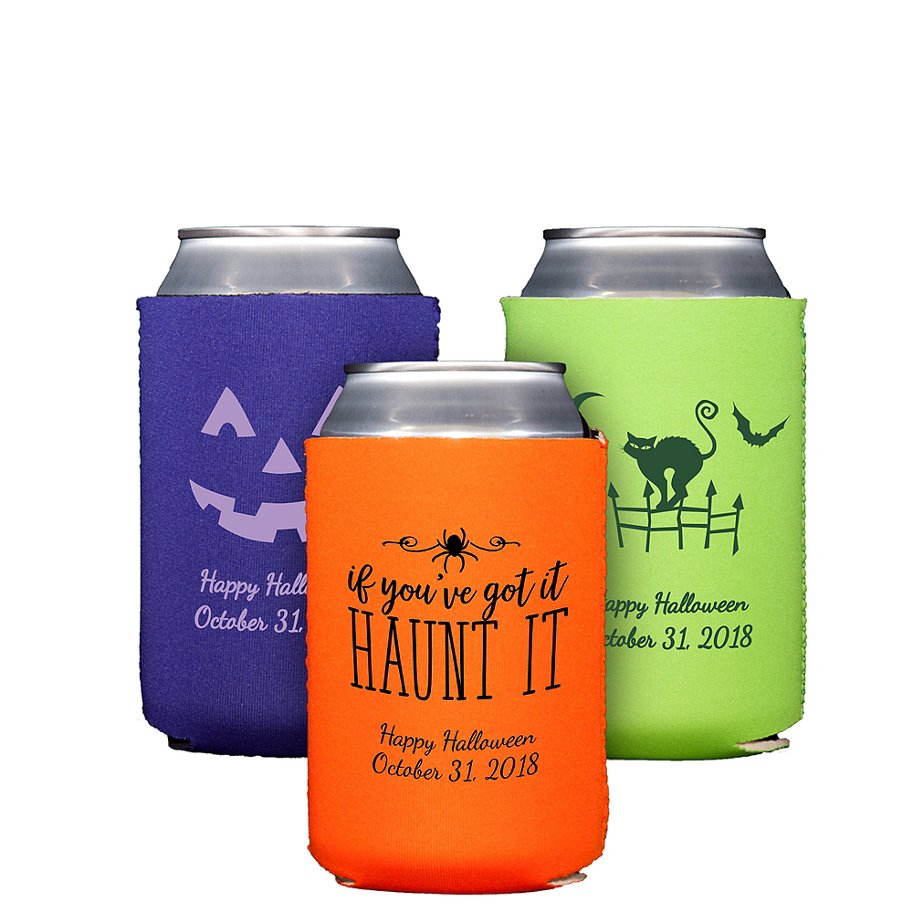 Personalized Halloween Collapsible Can Coozies Image #1
