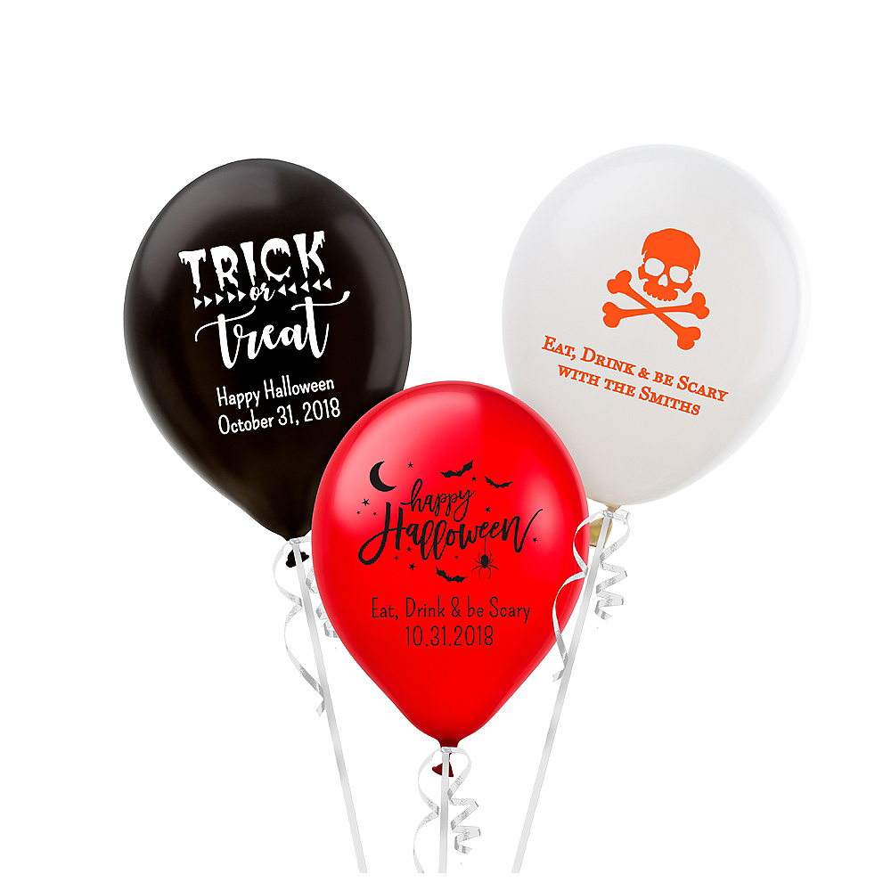Personalized Halloween Latex Small Balloon Image #1
