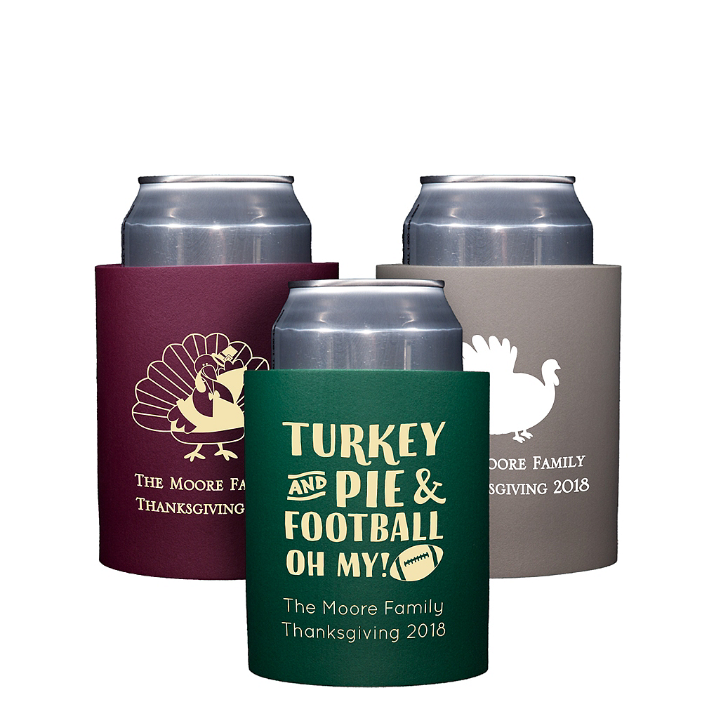 Personalized Thanksgiving Can Coozies Image #1