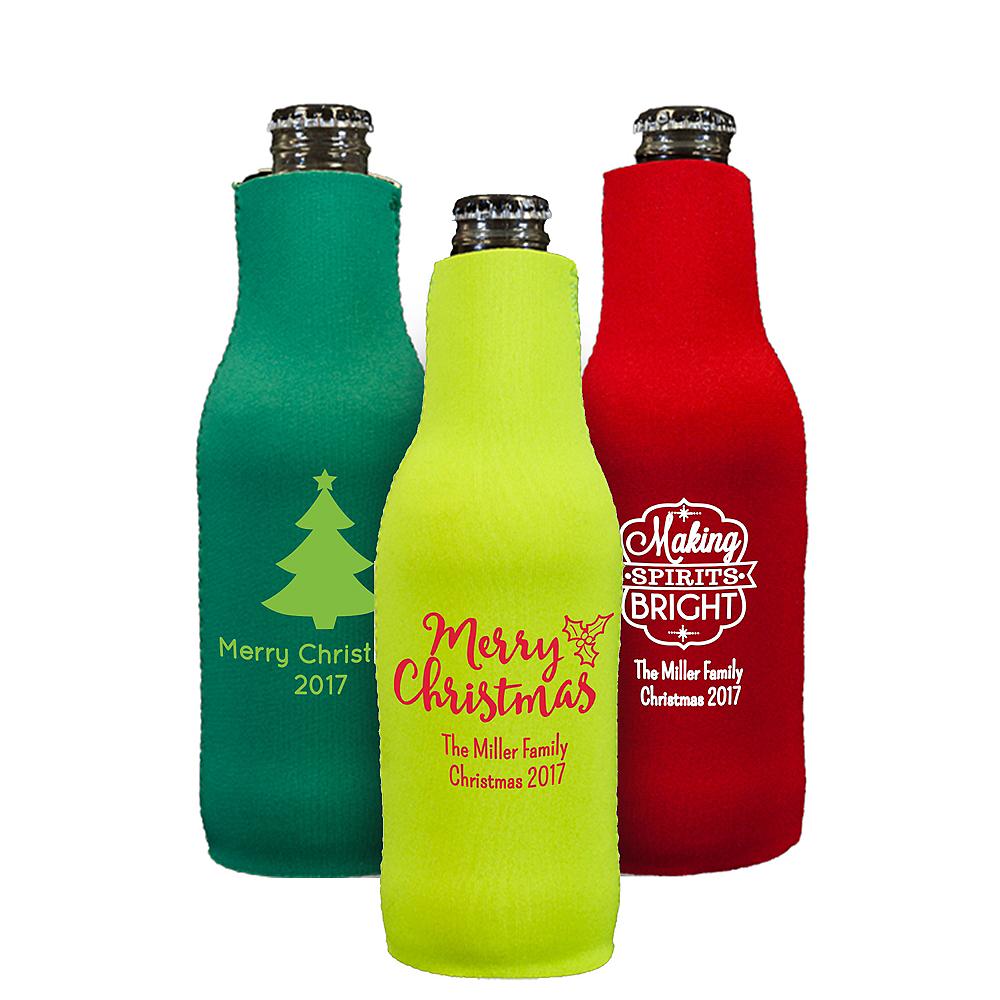 Personalized Christmas Bottle Huggers Image #1