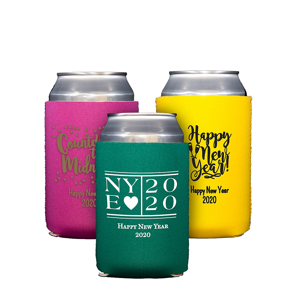 Personalized New Year's Collapsible Can Coozies Image #1