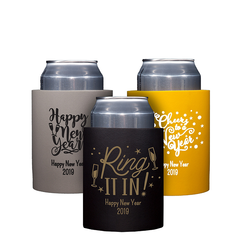 Personalized New Year's Can Coozies Image #1