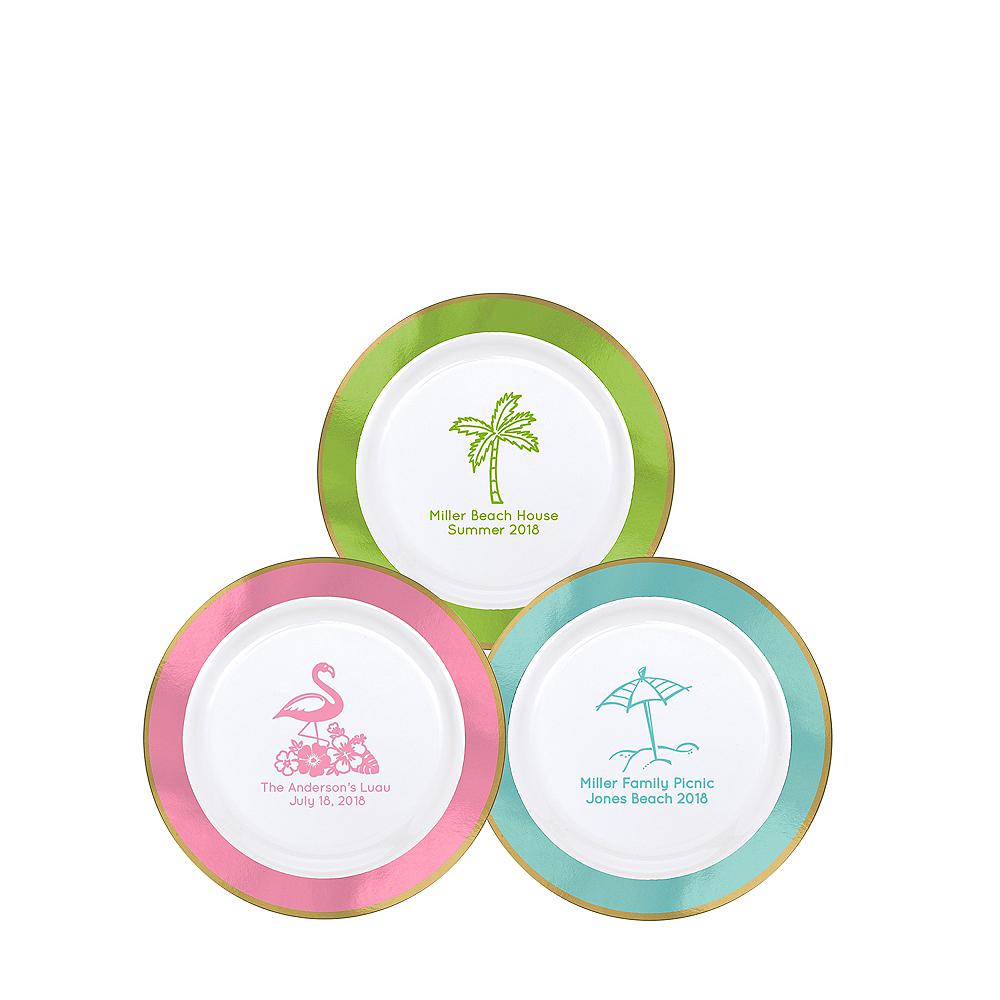 Personalized Summer Premium Round Trimmed Dessert Plates Image #1