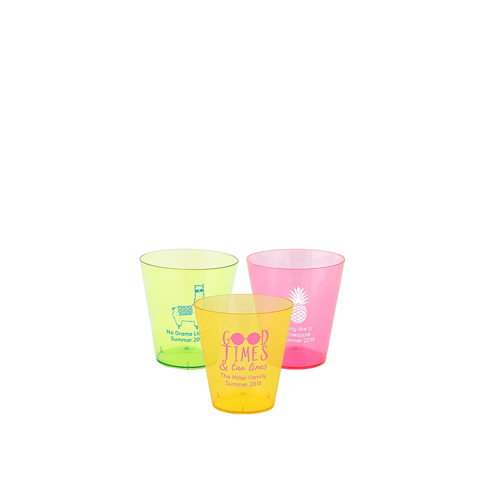 Personalized Summer Plastic Shot Glasses 2oz Image #1