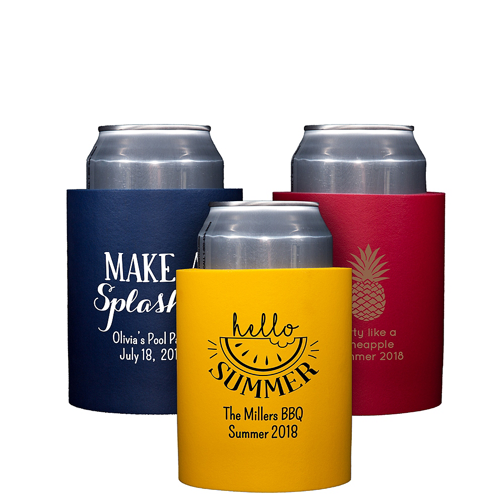 Personalized Summer Can Coozies Image #1