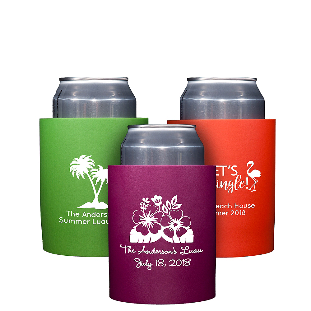 Personalized Luau Can Coozies Image #1