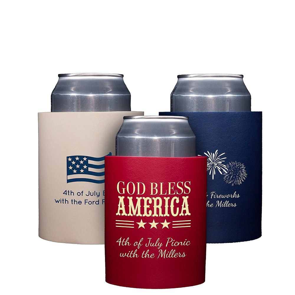 Personalized 4th of July Can Coozies Image #1