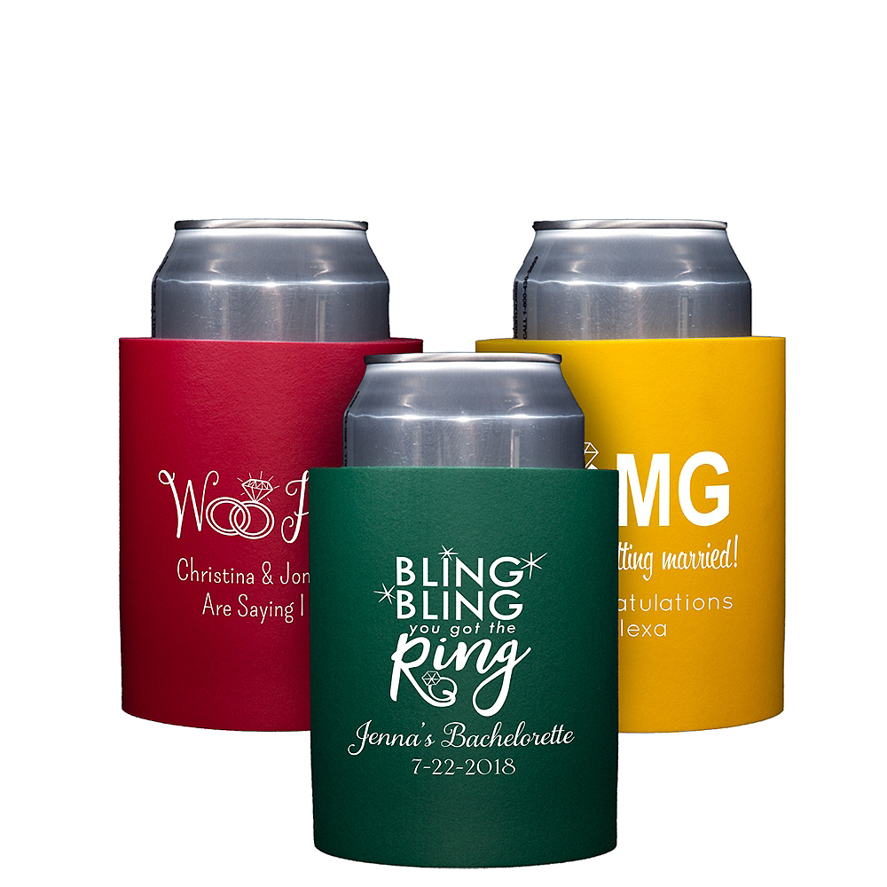 Personalized Wedding Can Coozies Image #1