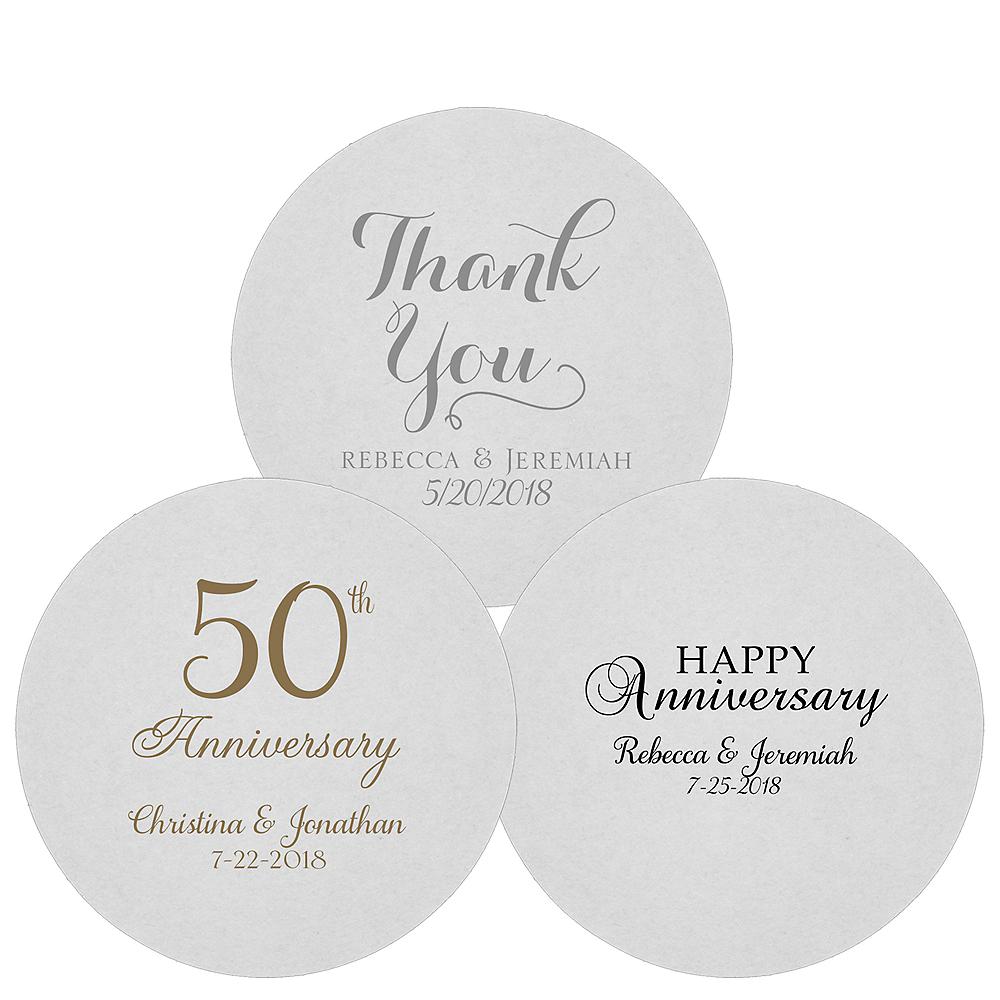 Personalized Wedding 80pt Round Coasters Image #1