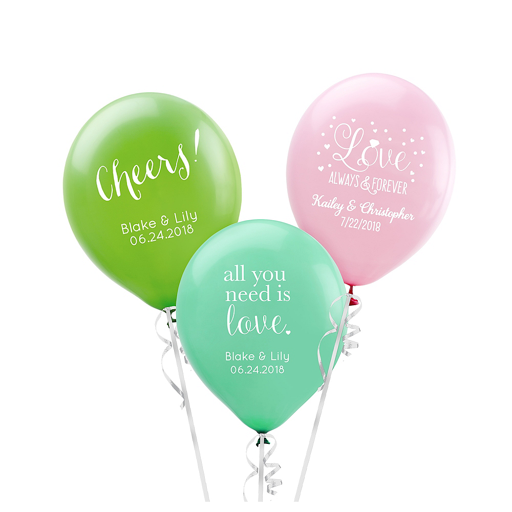 Personalized Wedding Latex Small Balloon Image #1