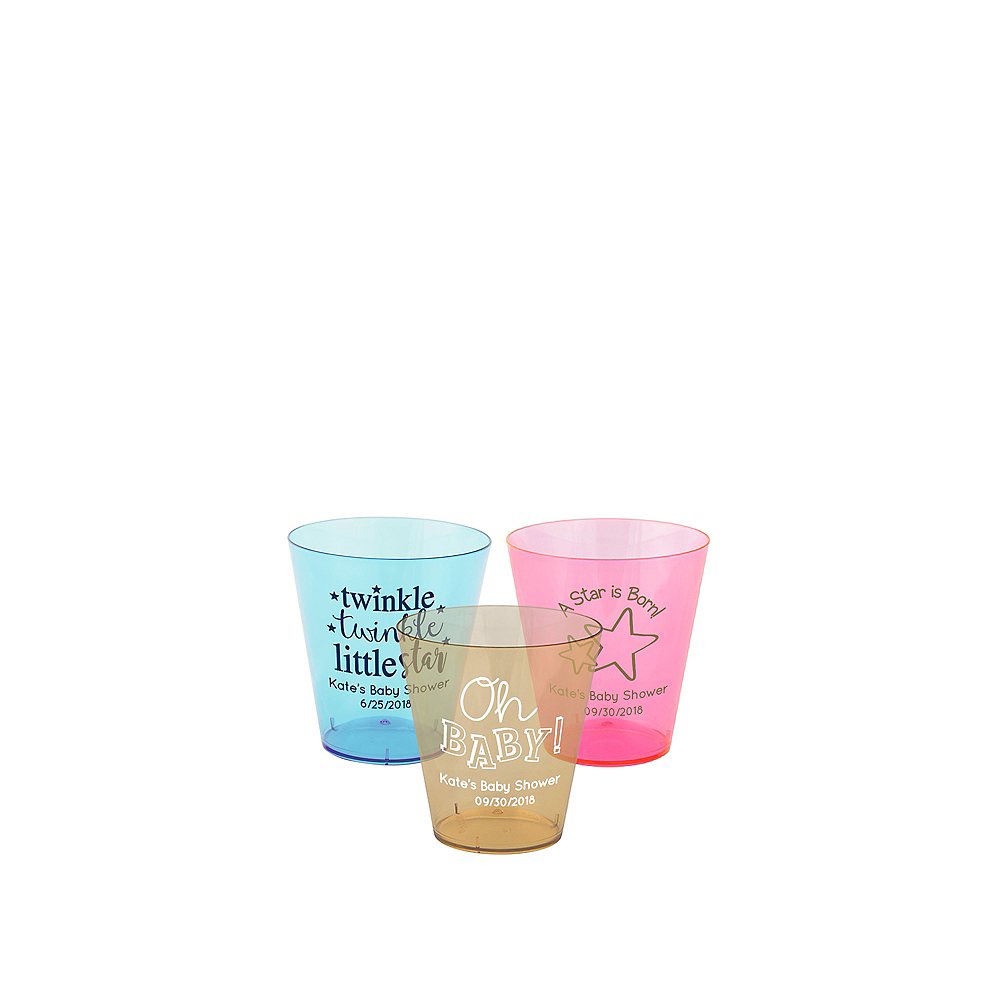 Personalized Baby Plastic Shot Glasses 2oz Image #1