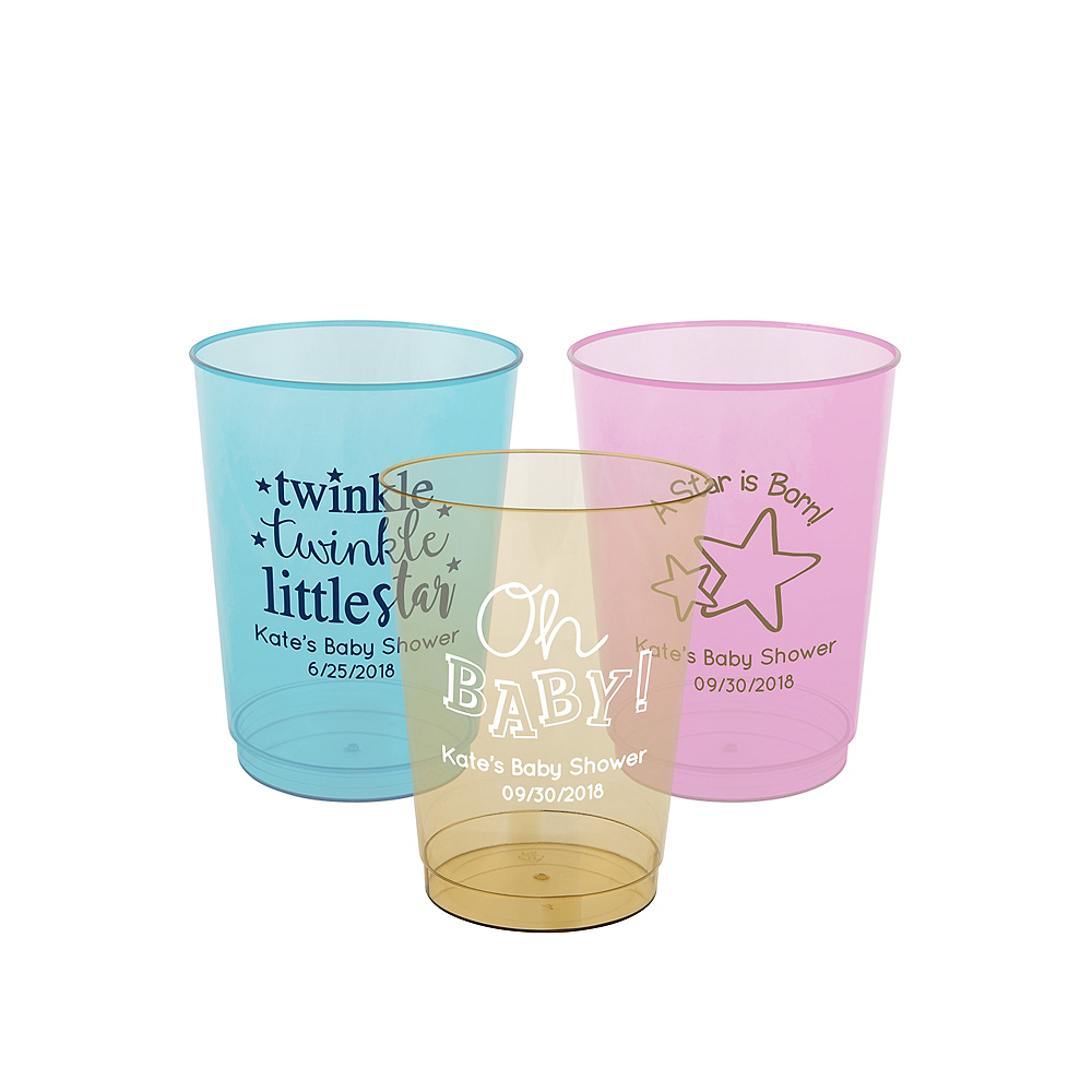 Personalized Baby Hard Plastic Color Cups 10oz Image #1