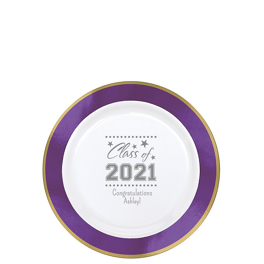 Personalized Graduation Premium Round Trimmed Dessert Plates  Image #1