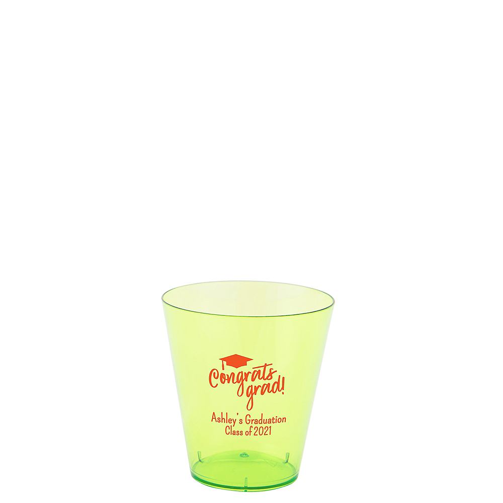 Personalized Graduation Plastic Shot Glasses 2oz    Image #1