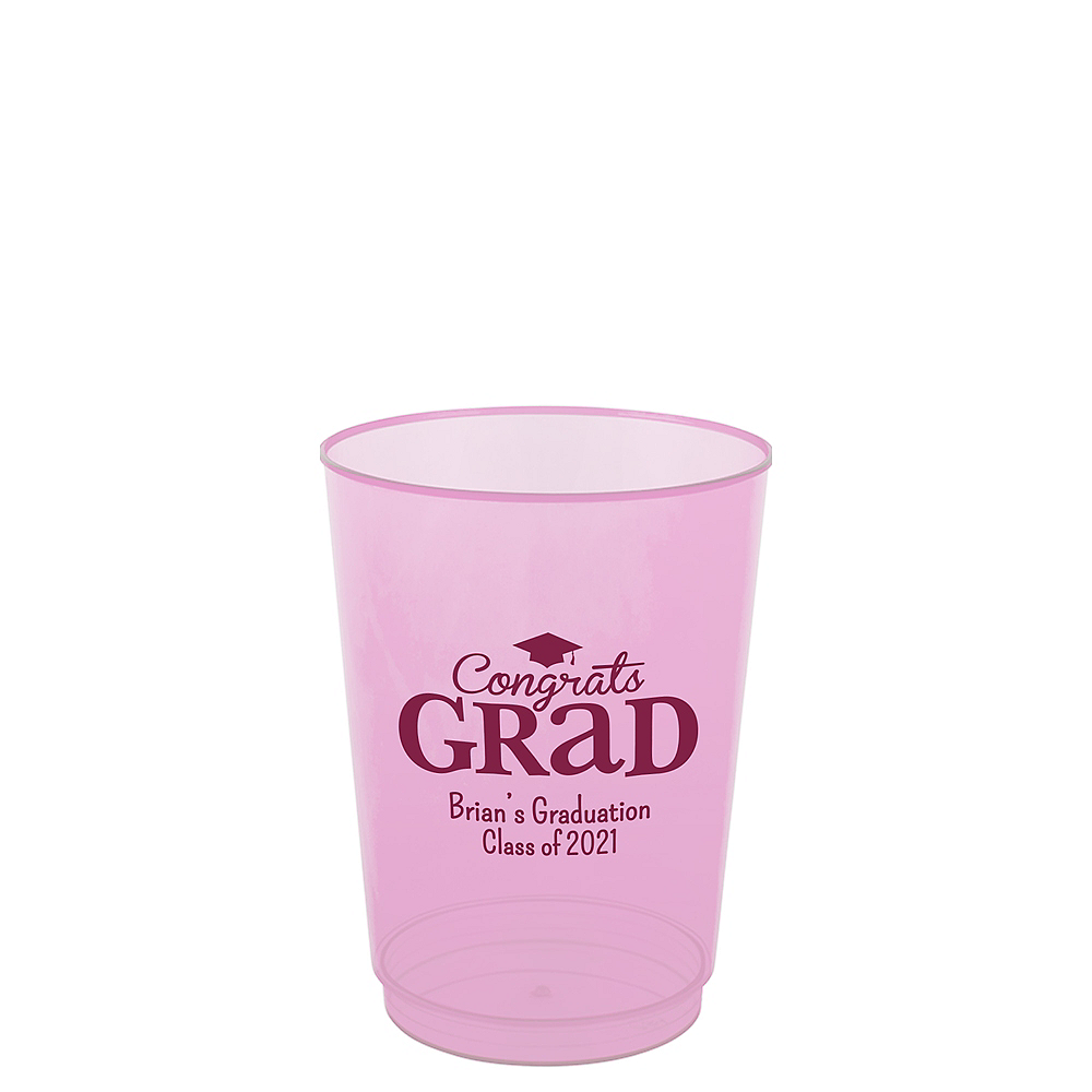 Nav Item for Personalized Graduation Hard Plastic Color Cups 10oz    Image #1