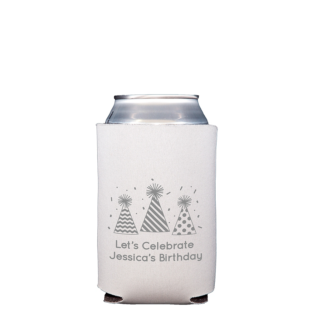 Personalized Birthday Collapsible Can Coozies Image #1