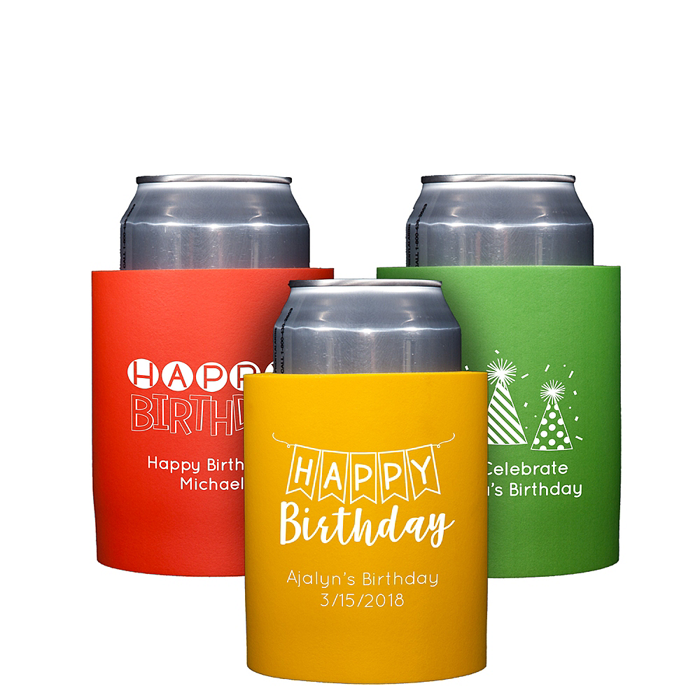 Personalized Birthday Can Coozies Image #1