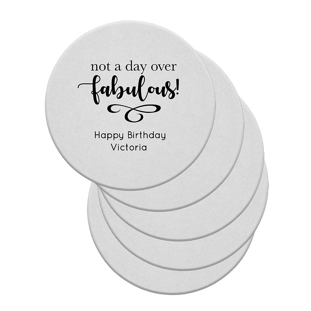Personalized Birthday 40pt Round Coasters Image #1