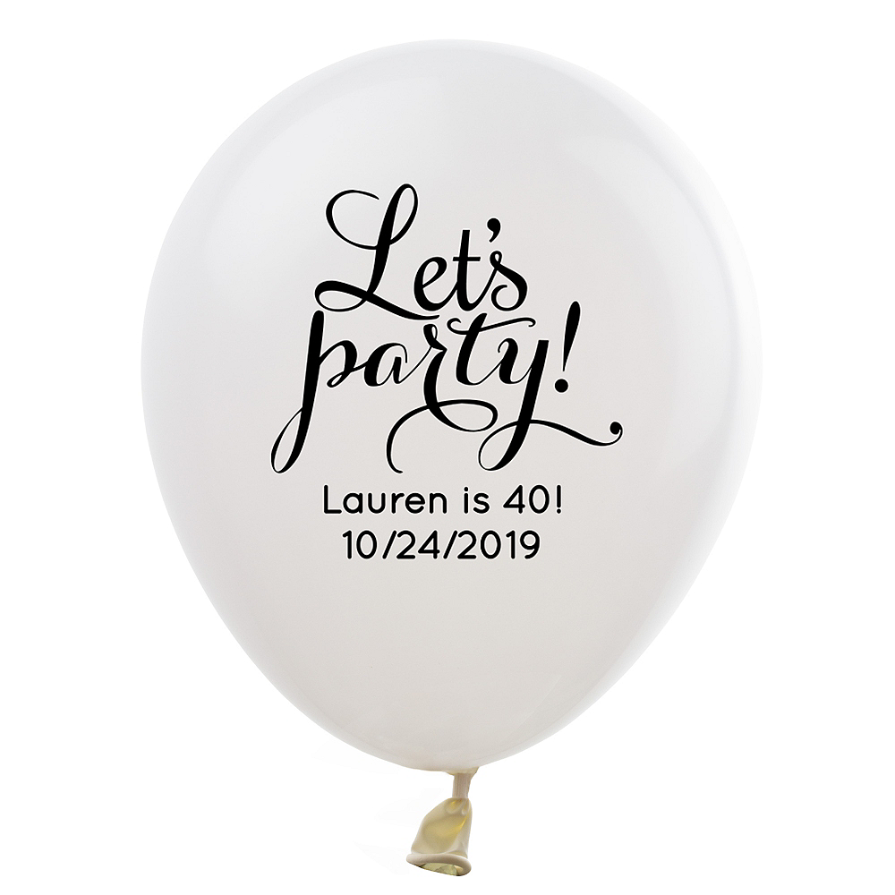 Personalized Happy Birthday Latex Balloon Image #1