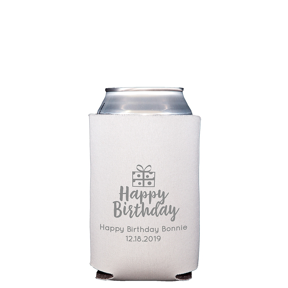 Personalized Milestone Birthday Collapsible Can Coozies Image #1