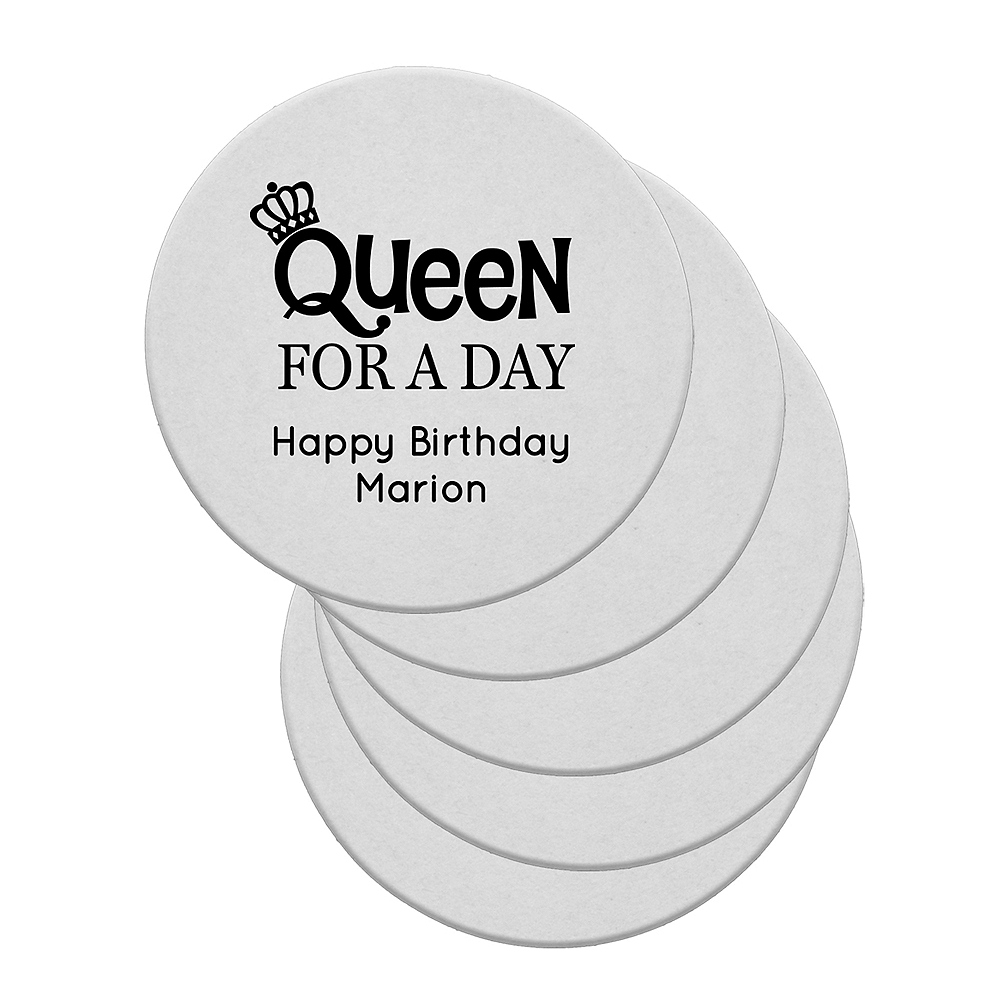 Personalized Milestone Birthday 40pt Round Coasters Image #1