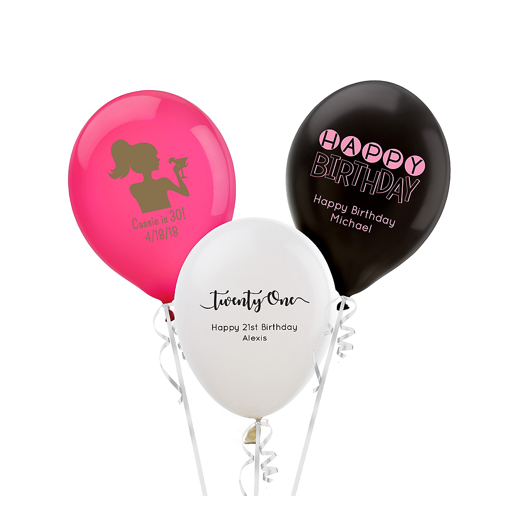 Personalized Milestone Birthday Latex Small Balloon Image #1