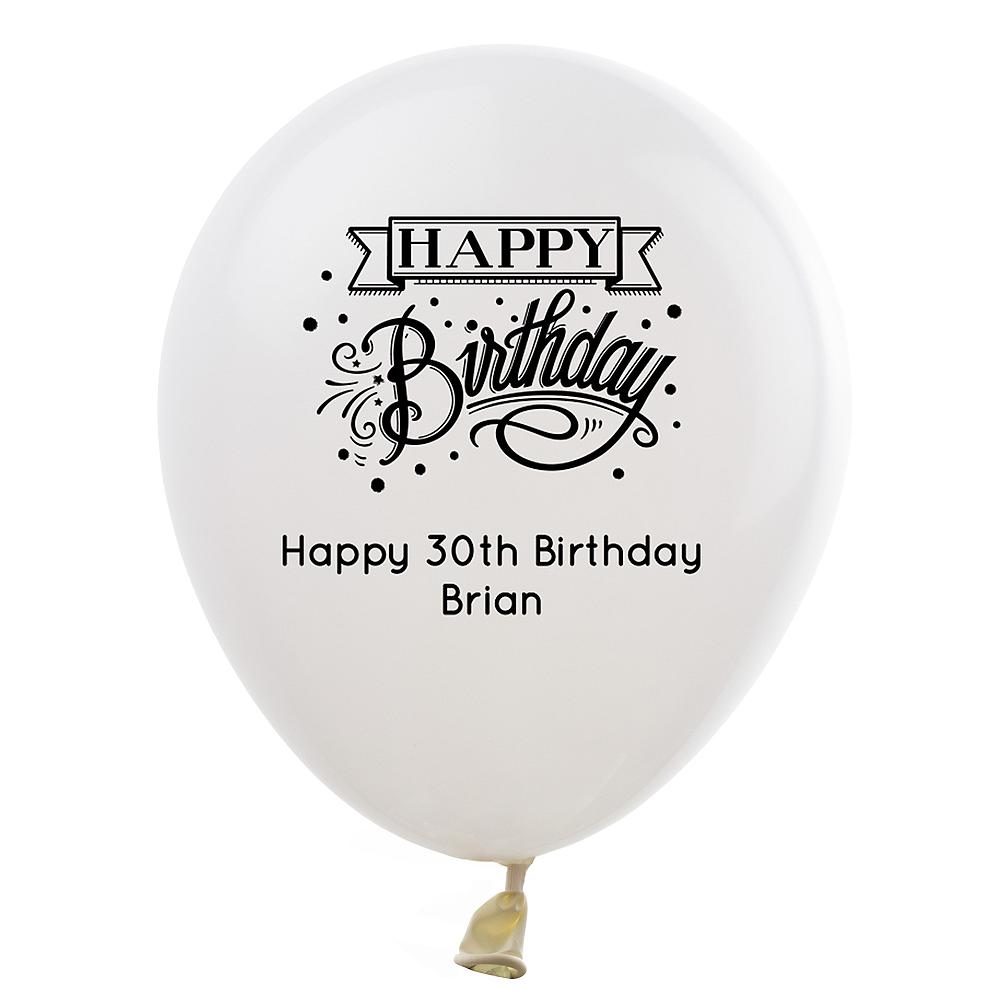 Personalized Milestone Birthday Latex Balloon Image #1