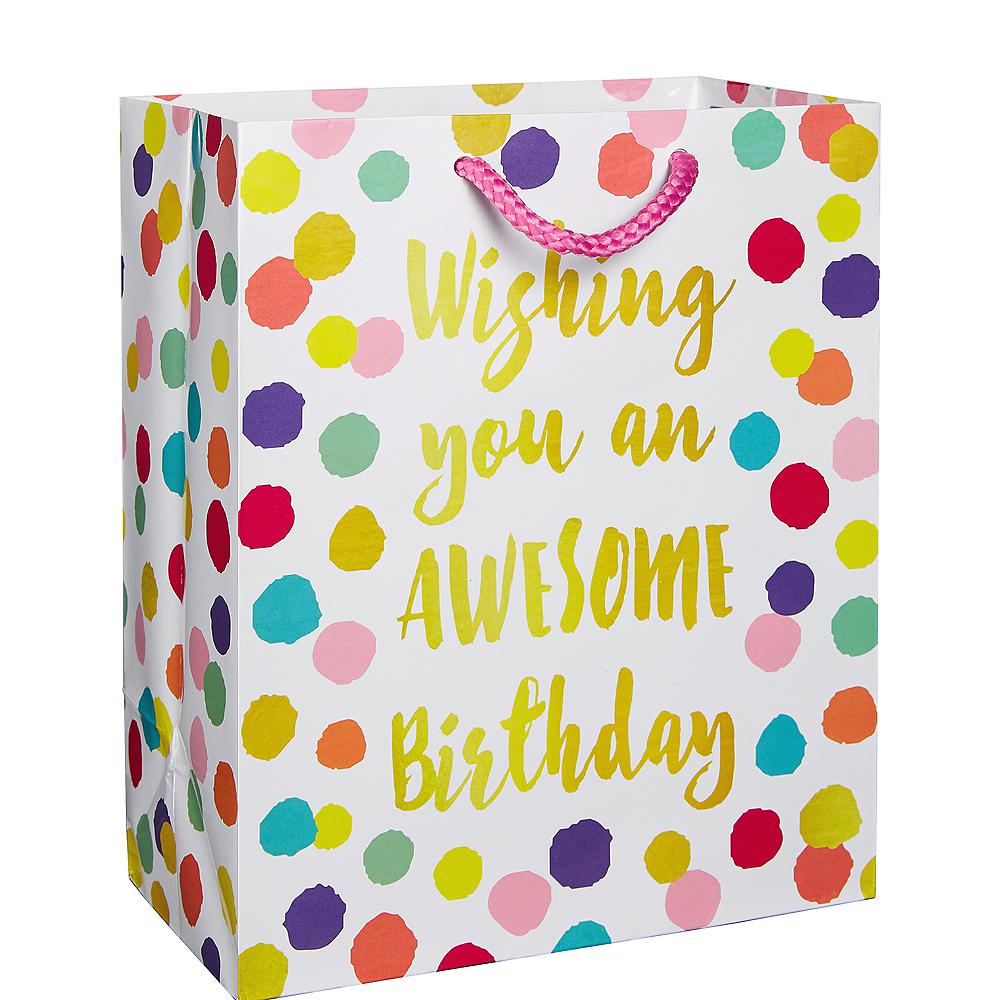 Colorful Dots Birthday Gift Bag Image #1