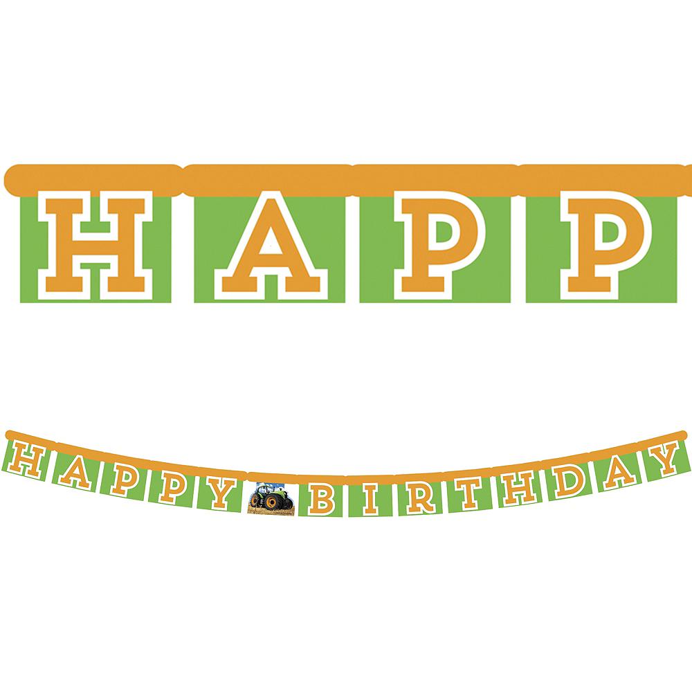 Tractor Birthday Banner Image #1