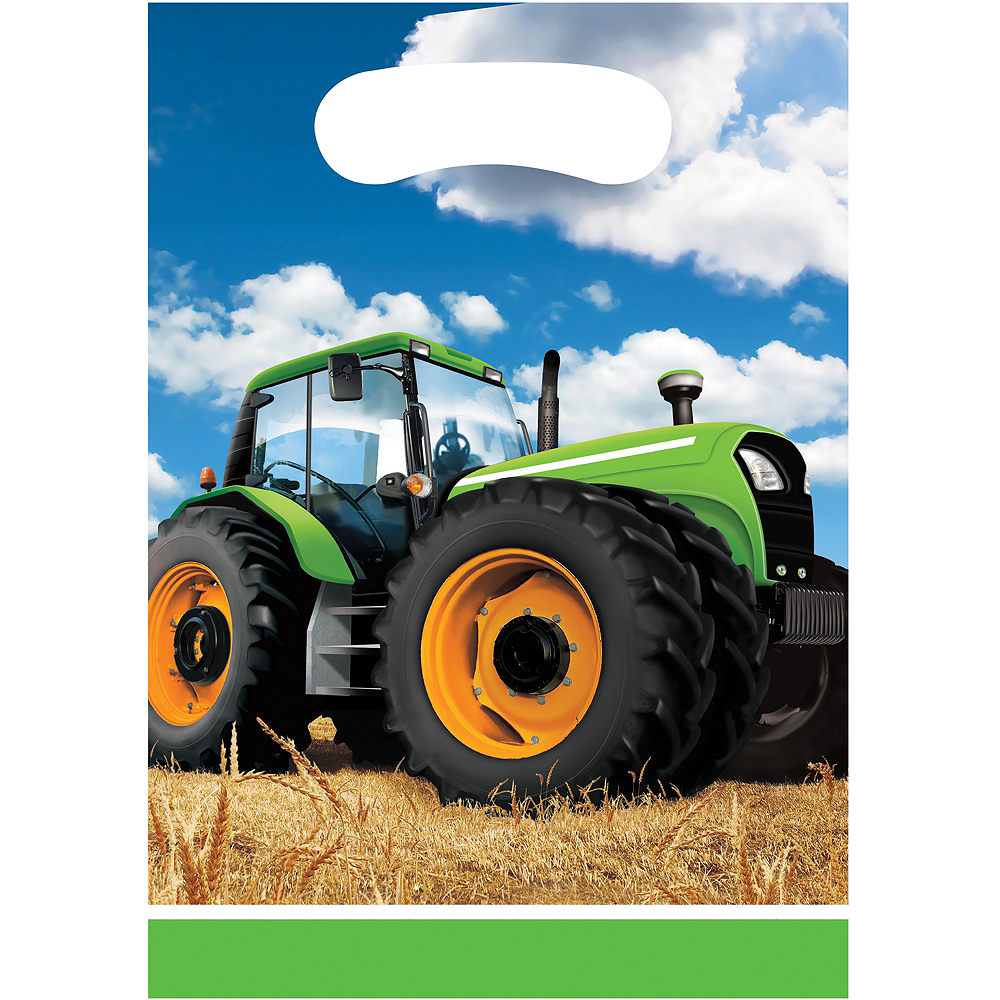 Tractor Favor Bags 8ct Image #1