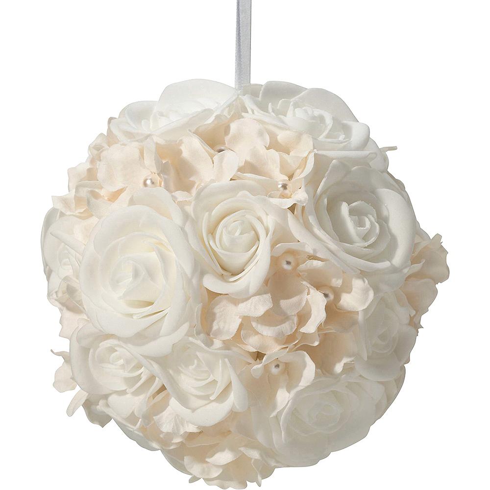 Ivory Flower Ball Image #2