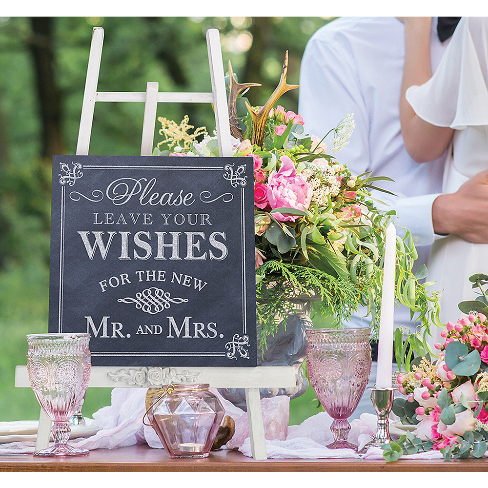 Leave Your Wishes Newlyweds Sign Image #1
