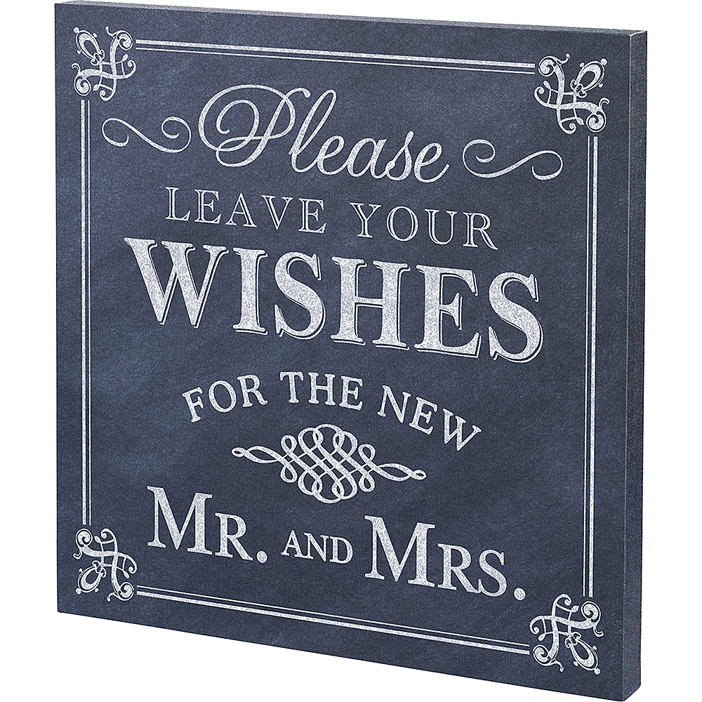 Leave Your Wishes Newlyweds Sign Image #2