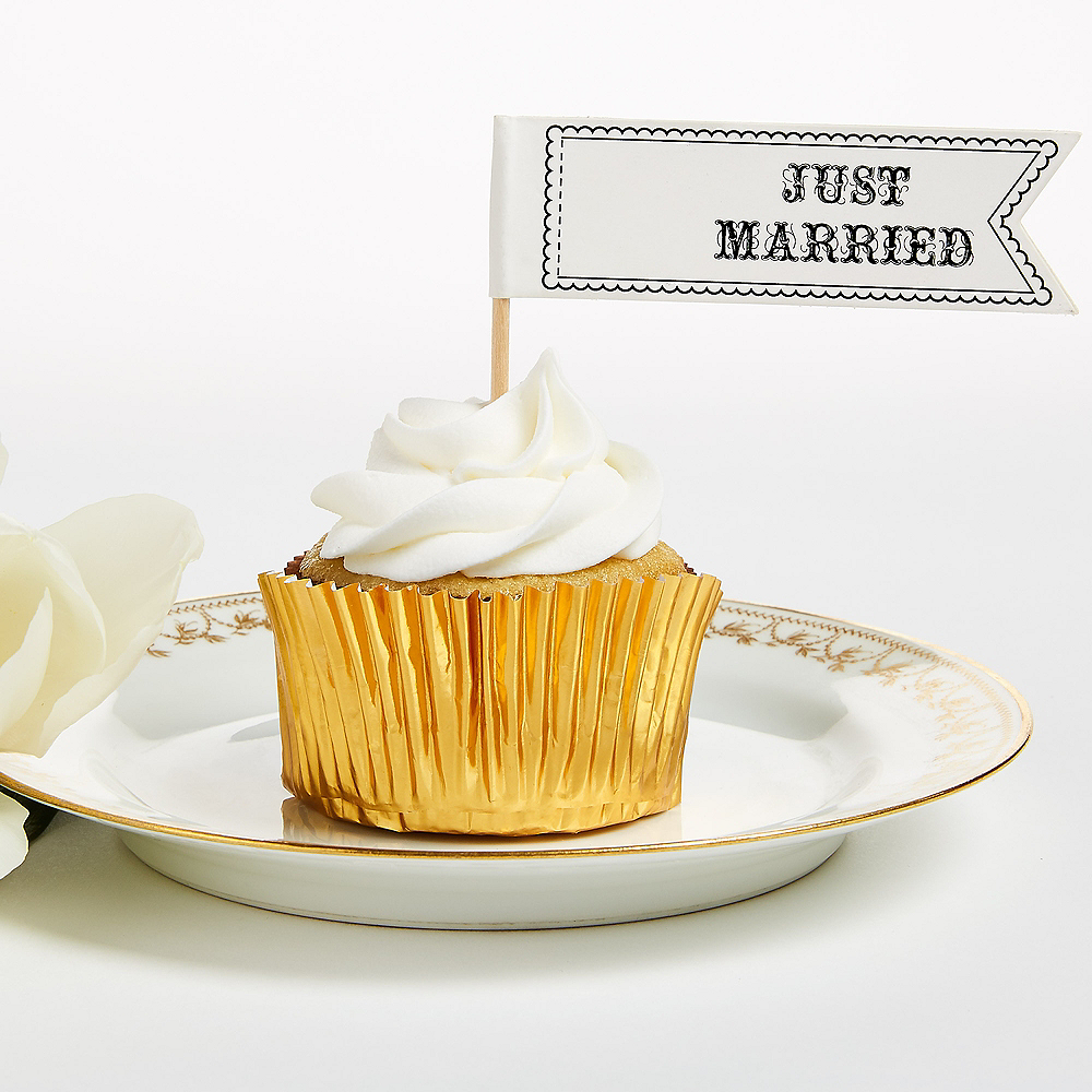 Just Married Party Picks 12ct Image #1