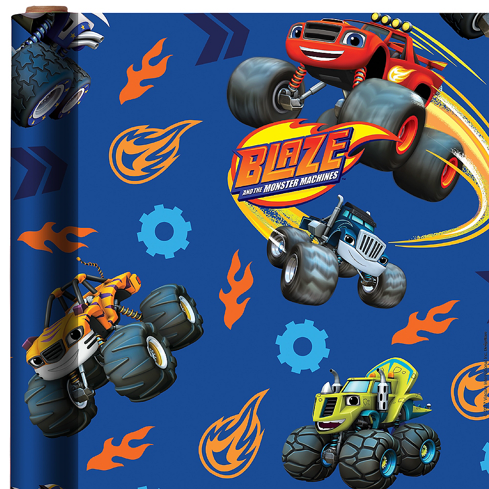 Blaze and the Monster Machines Gift Wrap Image #1