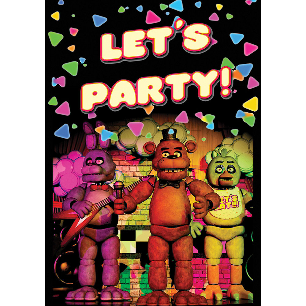 Five Nights At Freddys Invitations 8ct Image