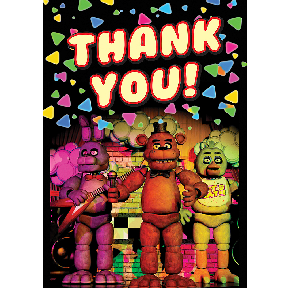 Five Nights at Freddy's Thank You Notes 8ct Image #1