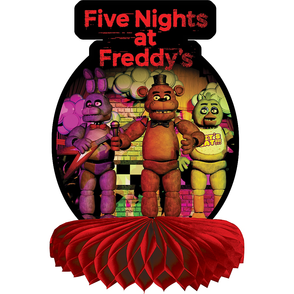 Five Nights at Freddy's Honeycomb Centerpiece Image #1