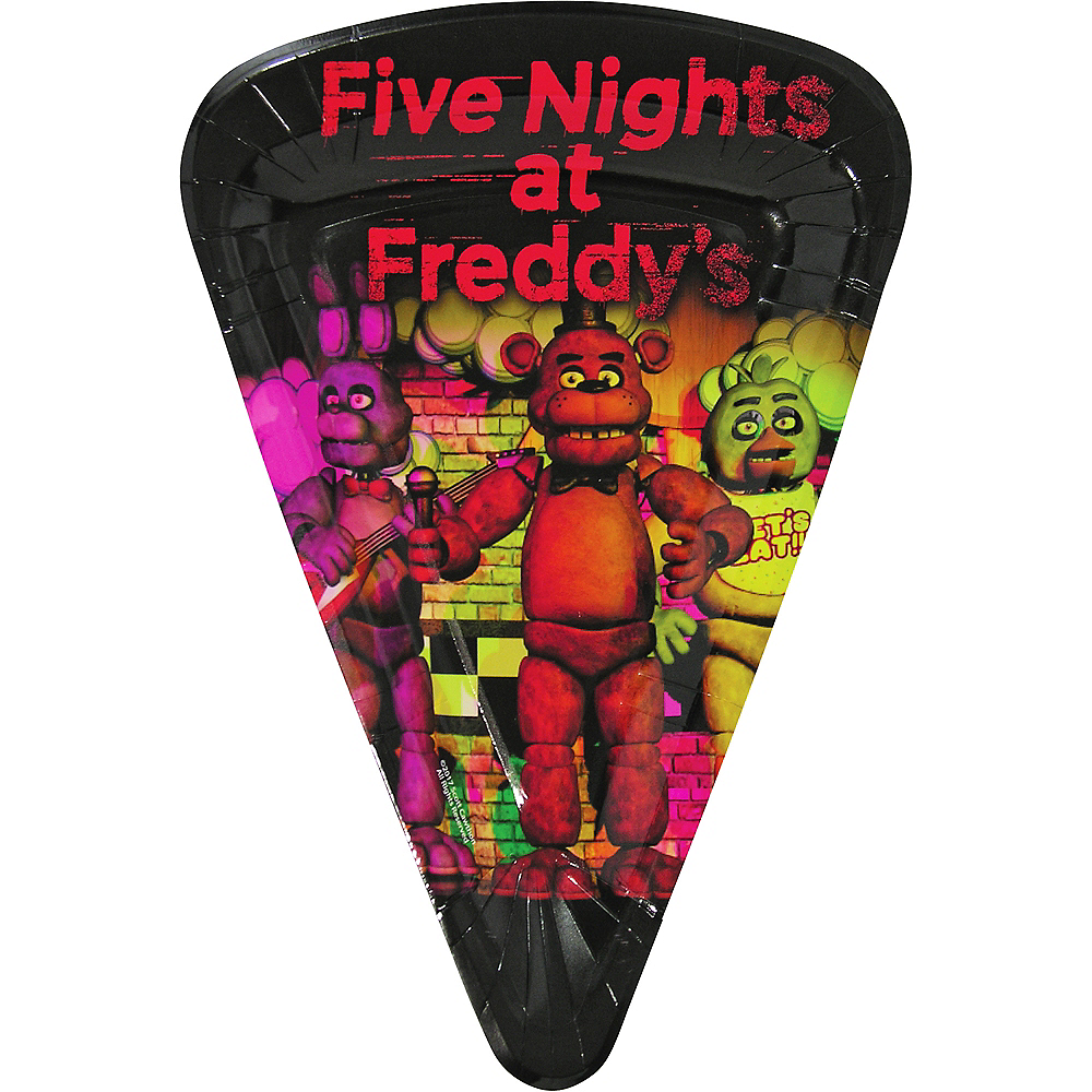 Five Nights at Freddy's Pizza Plates 8ct Image #1