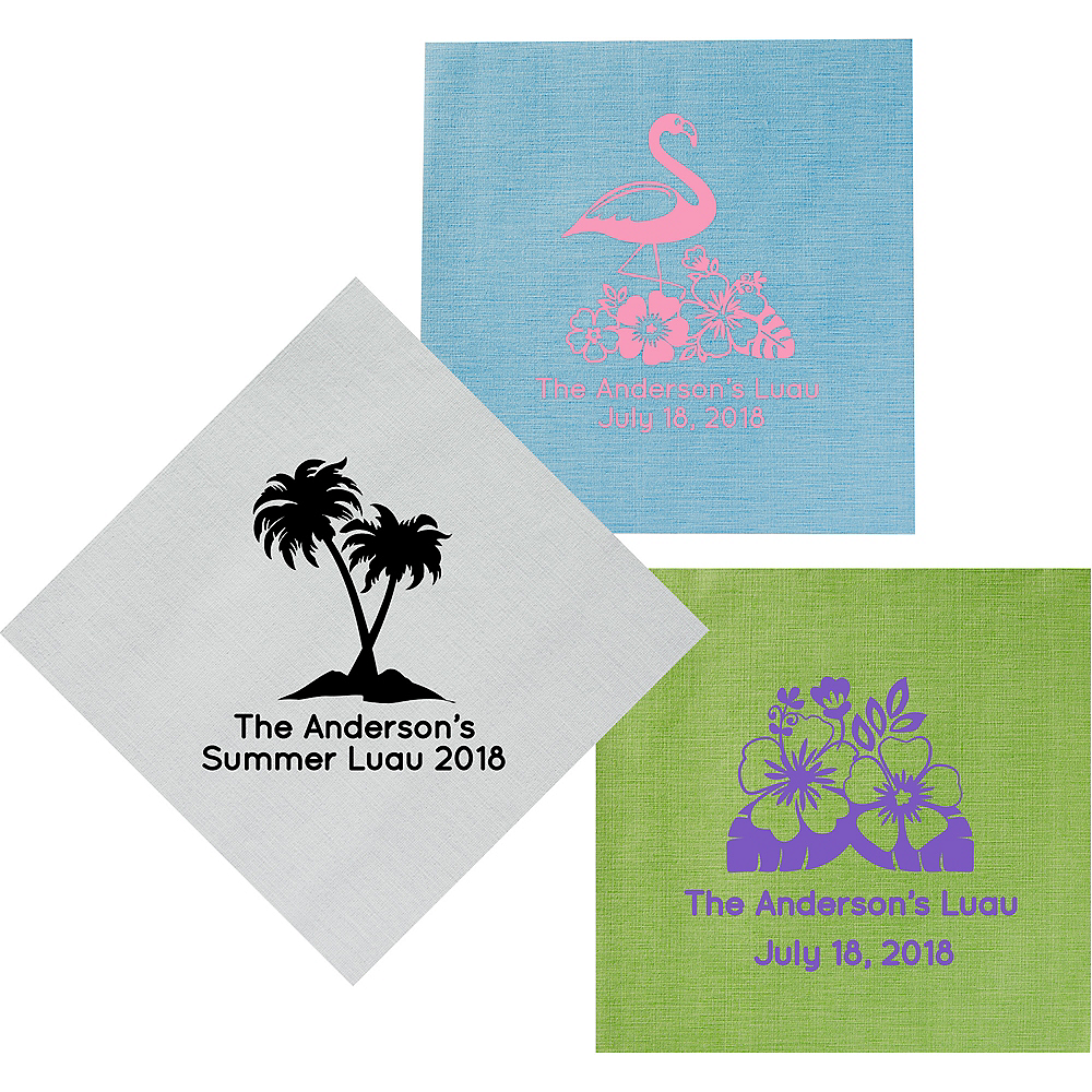 Personalized Luau Bella Dinner Napkins Image #1